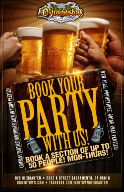 Book Your Party at Der Biergarten
