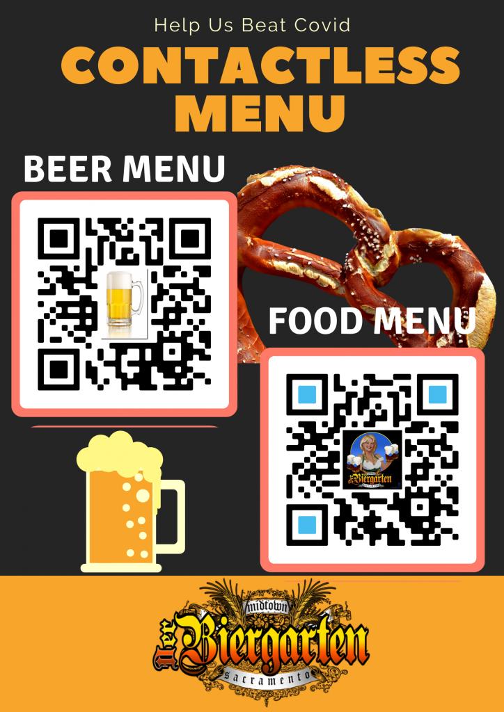 beer garden covid menu
